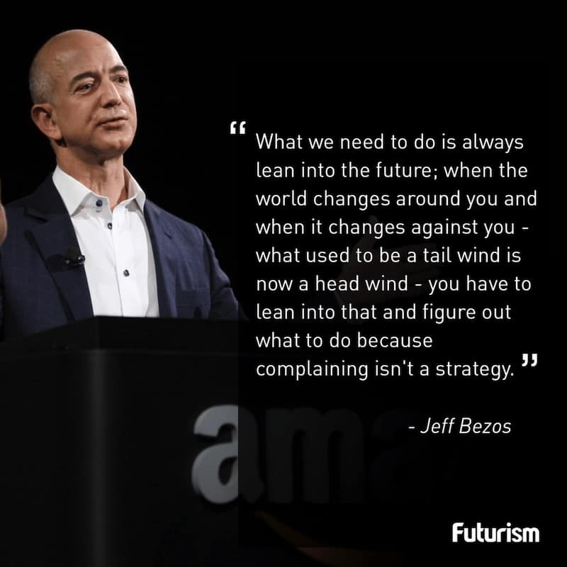 Jeff Bezos quote attractions uncertainty futureproofing