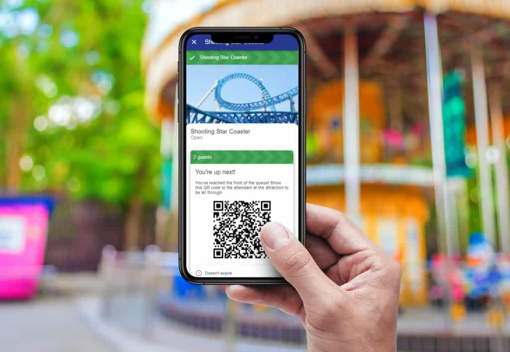 attractions technology solutions accesso Qsmart Virtual Queuing app