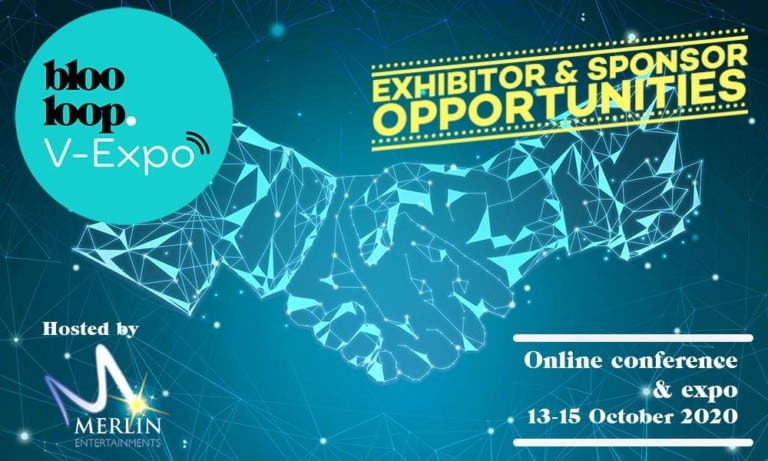 blooloop V-Expo exhibitor and sponsorship opportunities