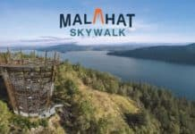 View of Malahat Sky Walk that uses Gateway Ticketing system
