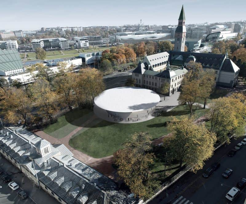 rendering of National Museum of Finland expansion
