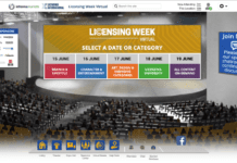 Screenshot of licensing week virtual