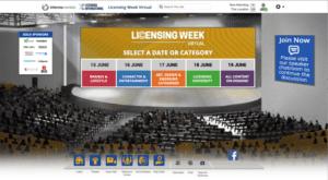 Screenshot of licensing week virtual