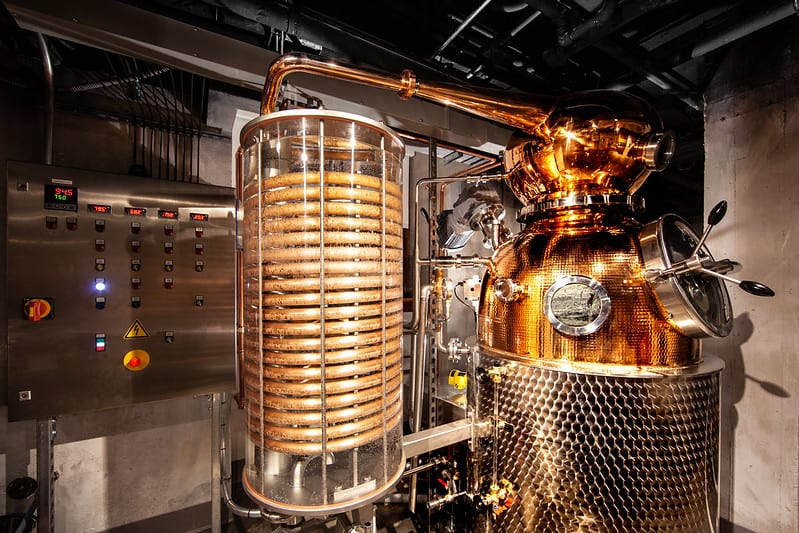 copper distillery at the Mob Museum