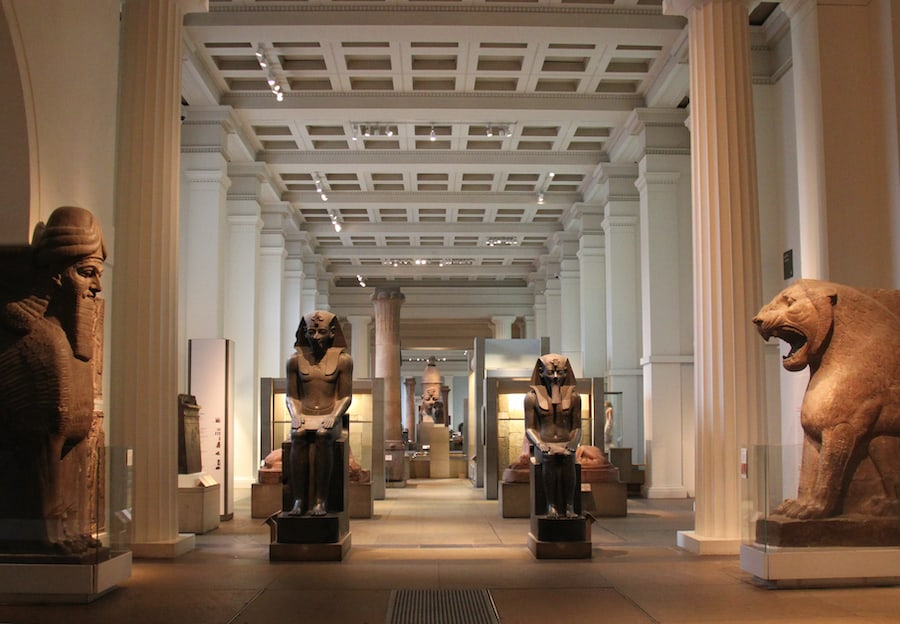 Egyptian Sculpture Gallery British Museum most visited