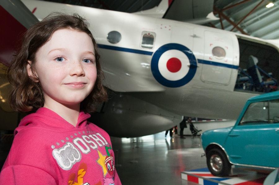 RAF museum child and plane Maggie Appleton