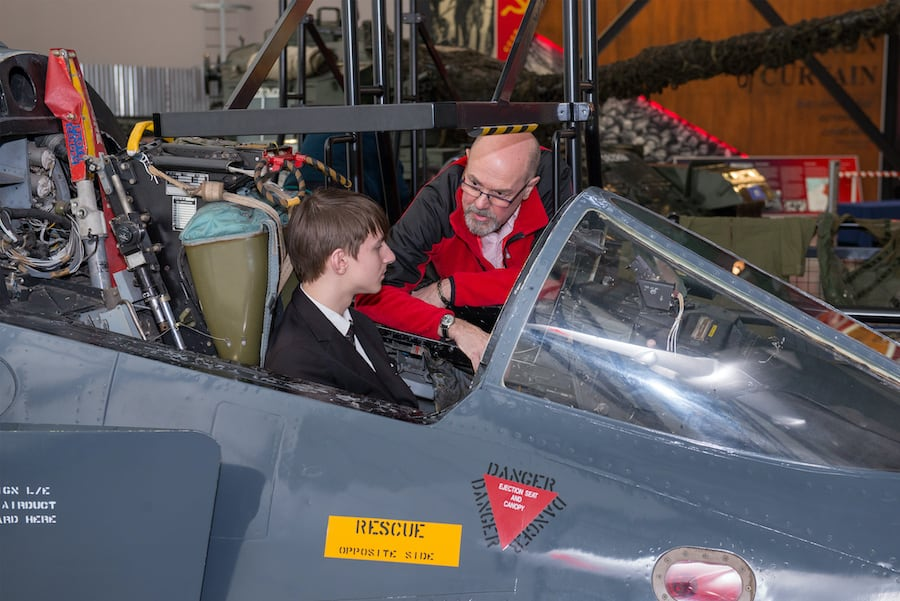 young visitor experiences life in the cockpit