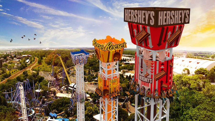hersheypark triple tower