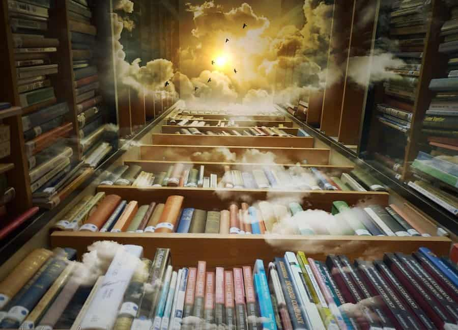 library clouds deep story