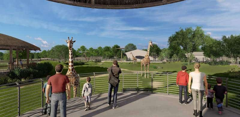 topeka zoo giraffe expansion