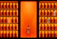 Cointreau Distillery bottles display