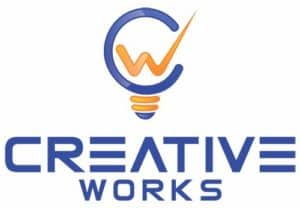 Creative works v-expo logo