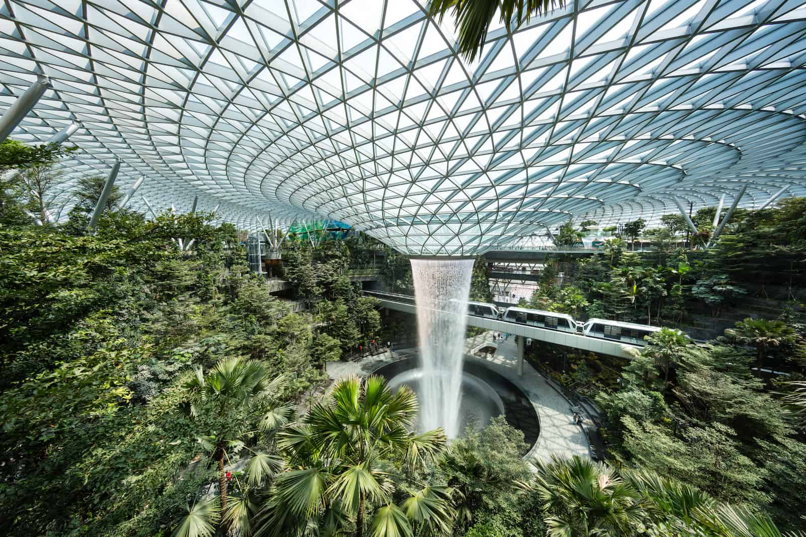 HSCB Rain Vortex and Shiseido Forest Valley Jewel Changi Airport