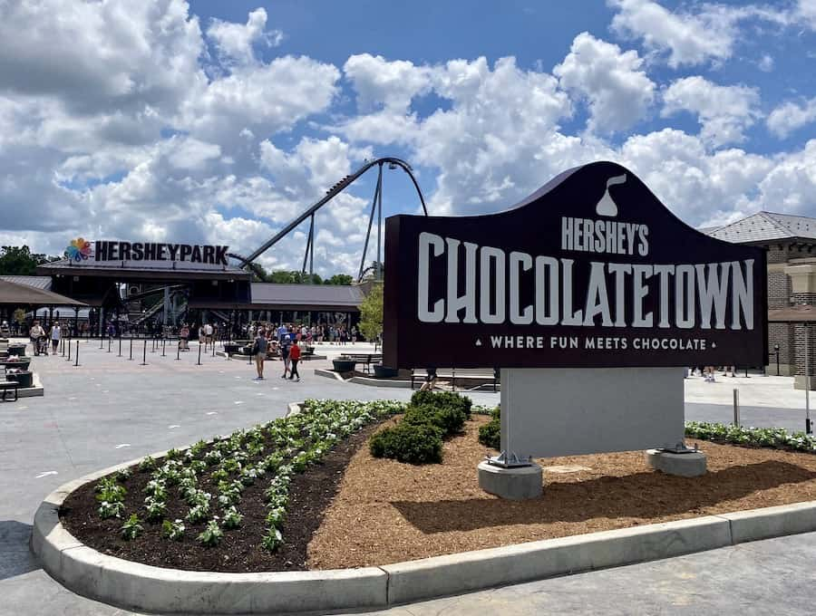 Hershey's Chocolatetown entrance