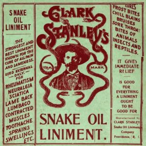 Snake Oil poster COVID tests