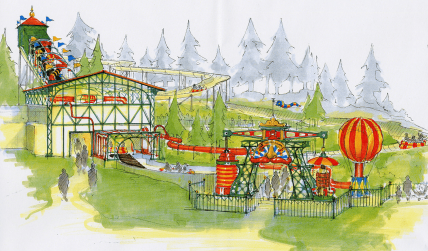 L'Oxygénarium Parc Astérix - with Farmer Studios design Michel Linet Frion
