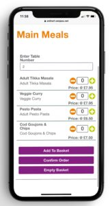 Vennersys mobile ordering