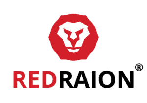 Red raion v-expo logo