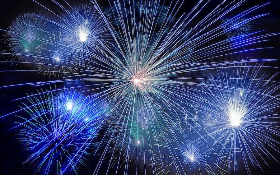 Fireworks display socially distant attractions