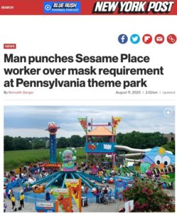 Sesame Place mask assault