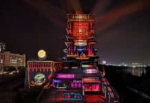 Christie laser projections light up Yellow River Tower in Lanzhou