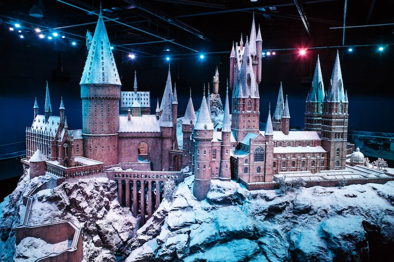 warner bros studio tour london hogwarts in the snow