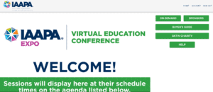 IAAPA Virtual education conference welome screenshot