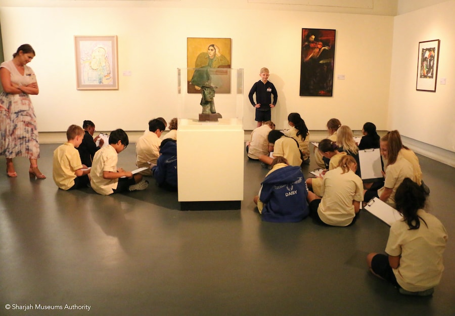Children enjoy a visit to the museum