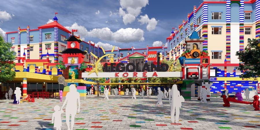 Legoland Korea wil be the first Lego theme park to feature a Legoland Hotel over the entrance attractions trends 2021