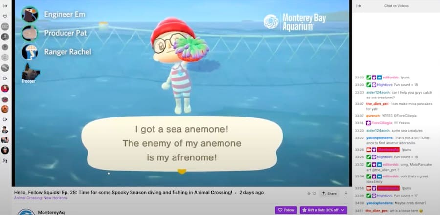 Playing Animal Crossing on Twitch