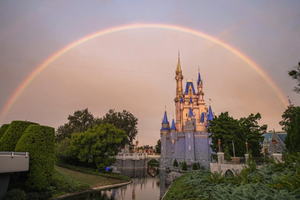 Rainbow over Magic Kingdom Park
