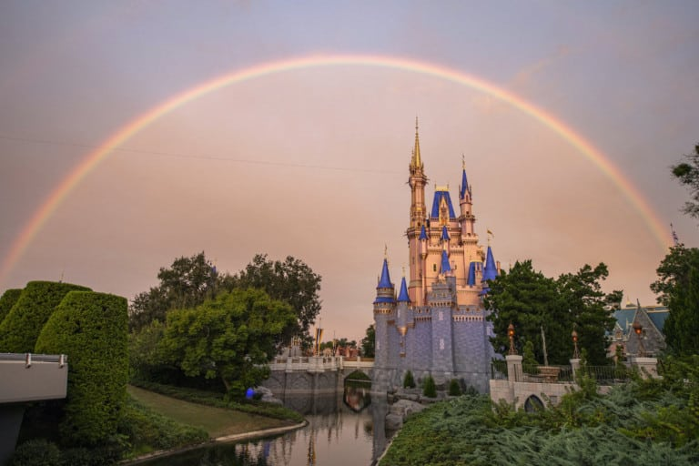 Rainbow over Magic Kingdom Park