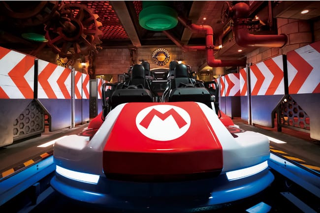 super nintendo world japan mario kart ride vehicle