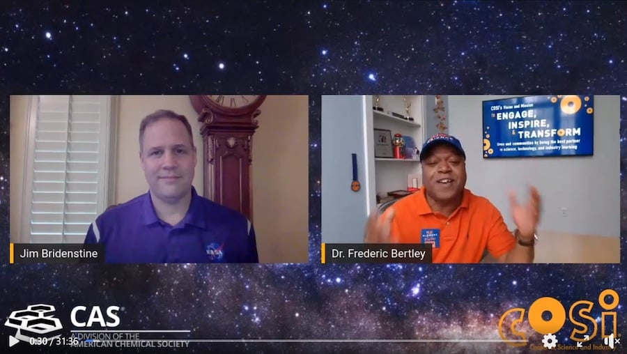 Virtual Science Festival with NASA Administrator Jim Bridenstine and Dr Frederic Bertley