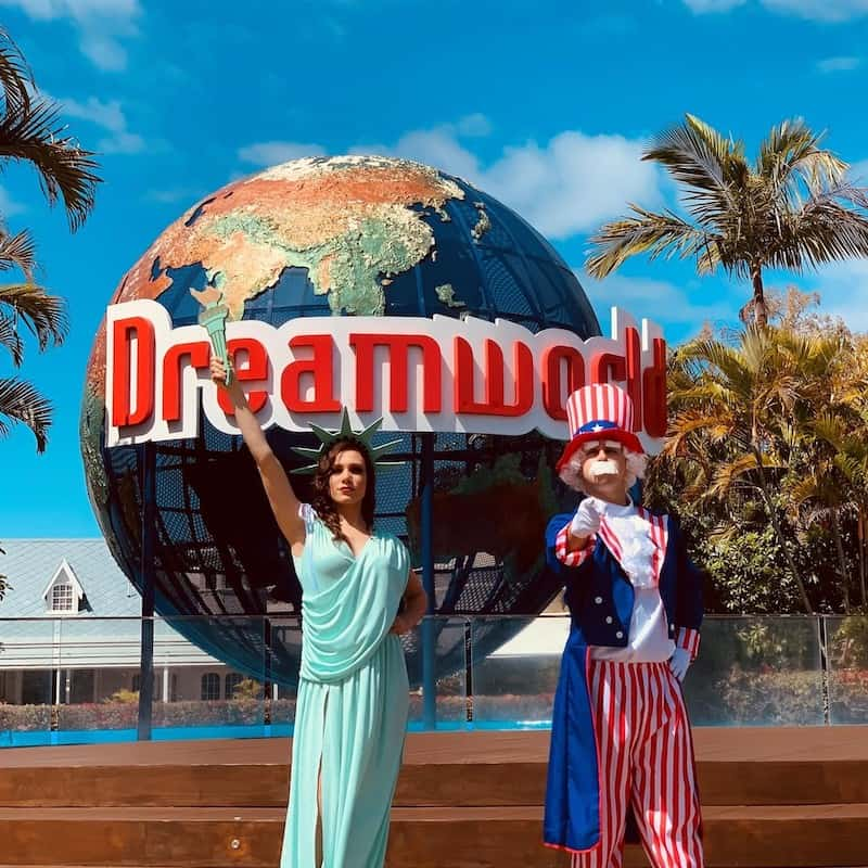 Dreamworld flying theatre flyover america