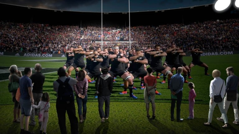 Haka render from All Blacks Experience