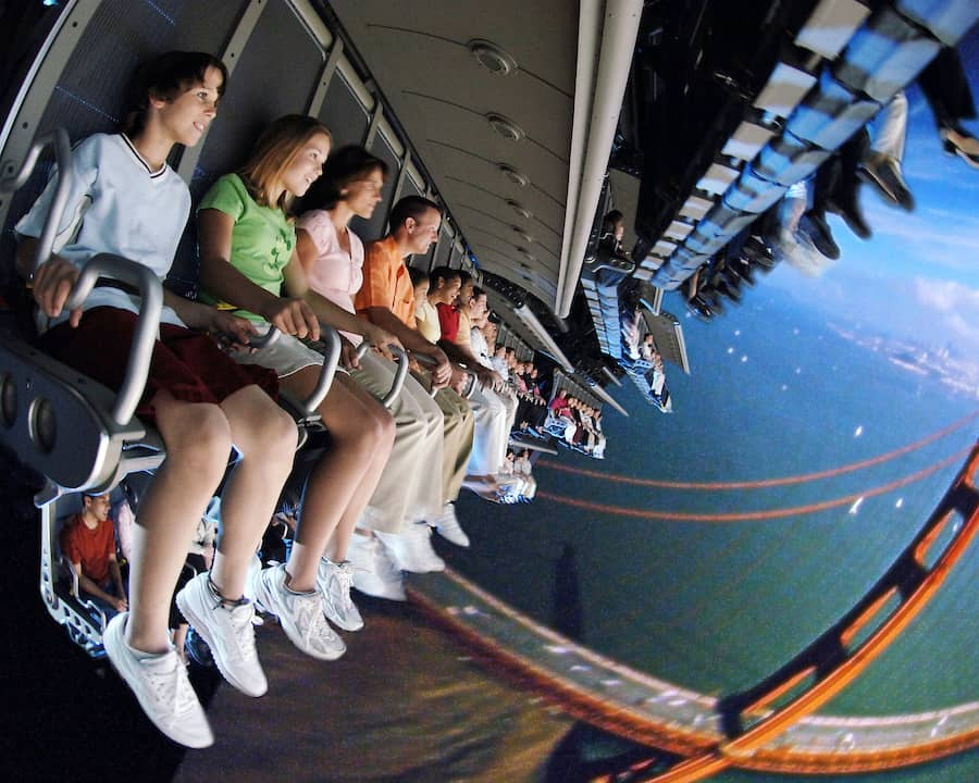 Soarin over california top flying theatre attractions