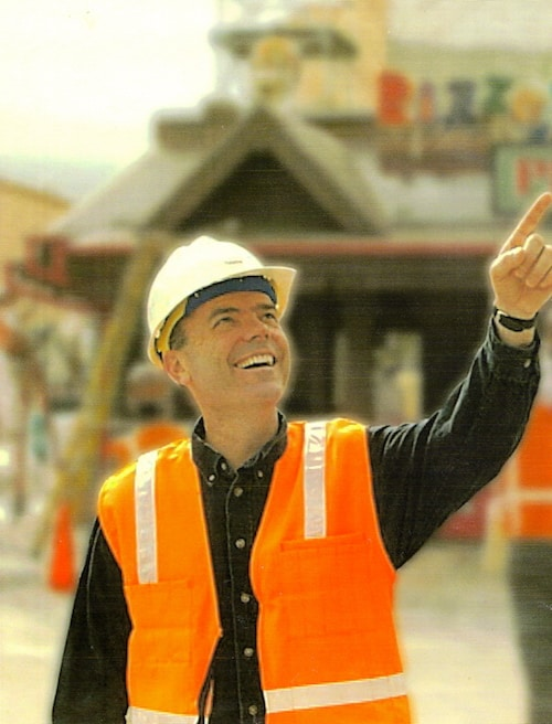 Steve Tatham On site at Disney's California Adventure in 2001.