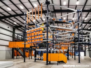 Walltopia biggest indoor ropes course