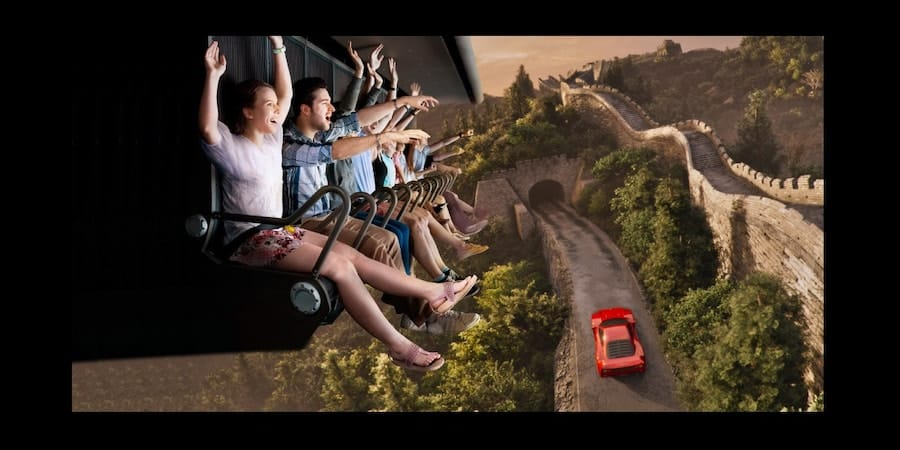 top flying theatre attractions flying-dreams-ferrari-land