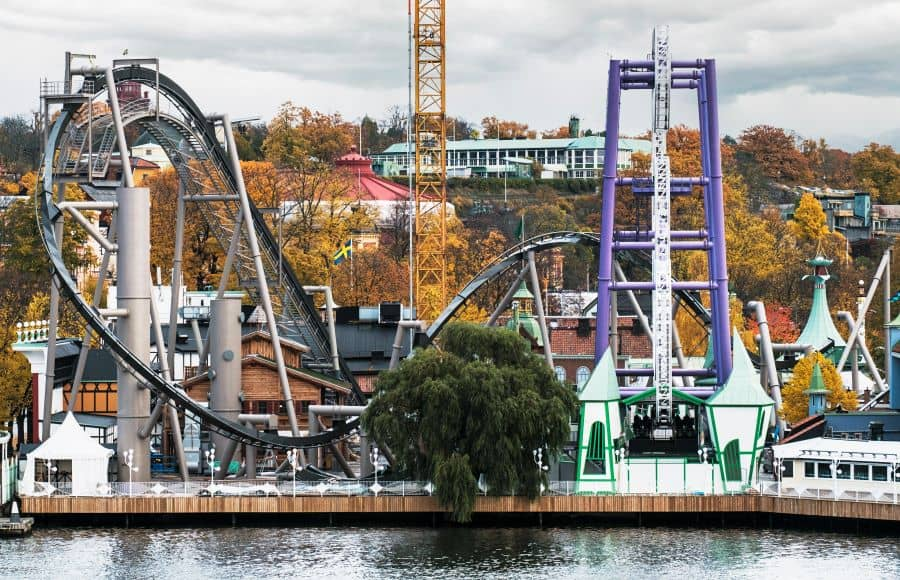 Photo of the new monster roller coaster at grona lund