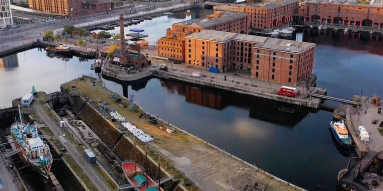 Aerial view of Waterfront_credit National Museums Liverpool