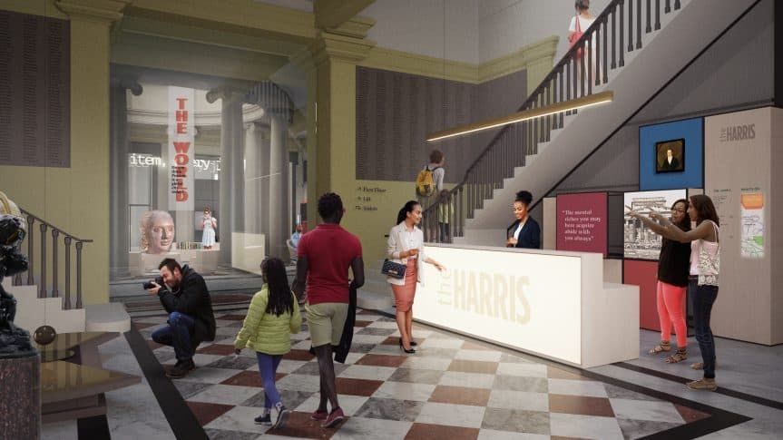 Harris musuem plans welcome area