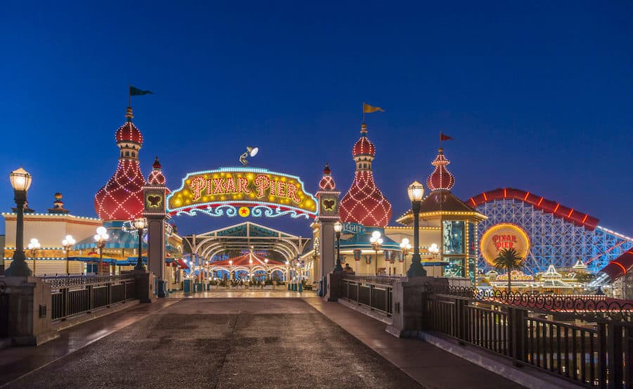 Pixar Pier in Disney California Adventure Park