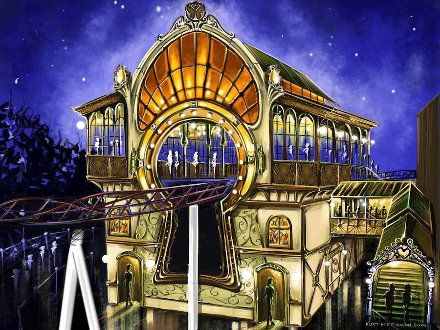 Plopsaland De Panne_The_Ride_to_Happiness_by_Tomorrowland_station