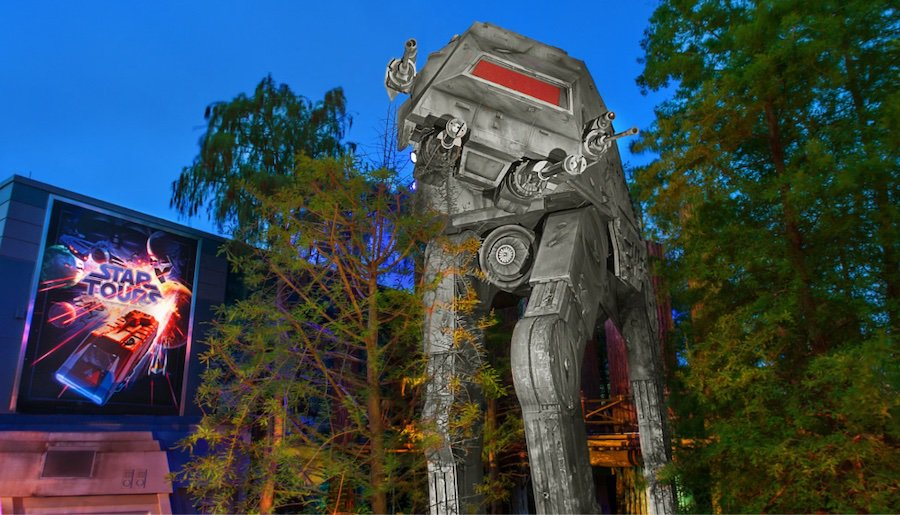 Star Tours, as pictured in 2019