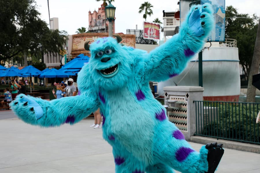 Monsters Inc. characters at Disney World annual passes