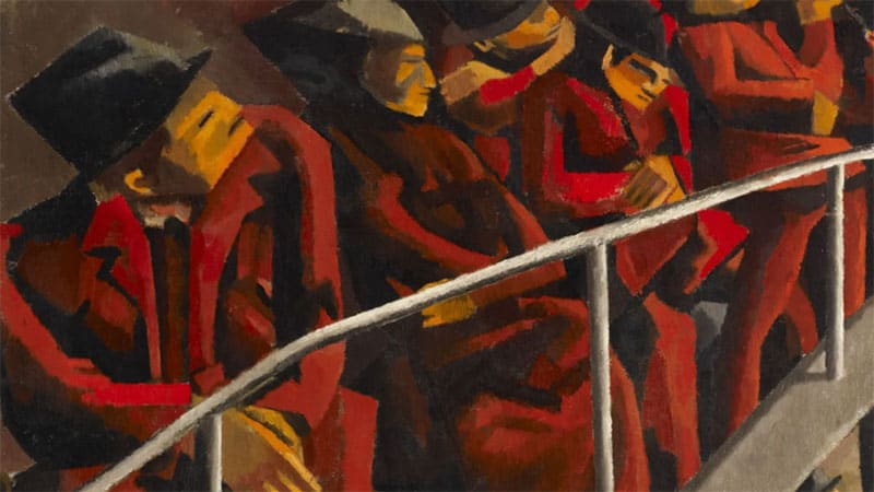 Ben Uri virtual museum | Ghetto Theatre by David Bomberg