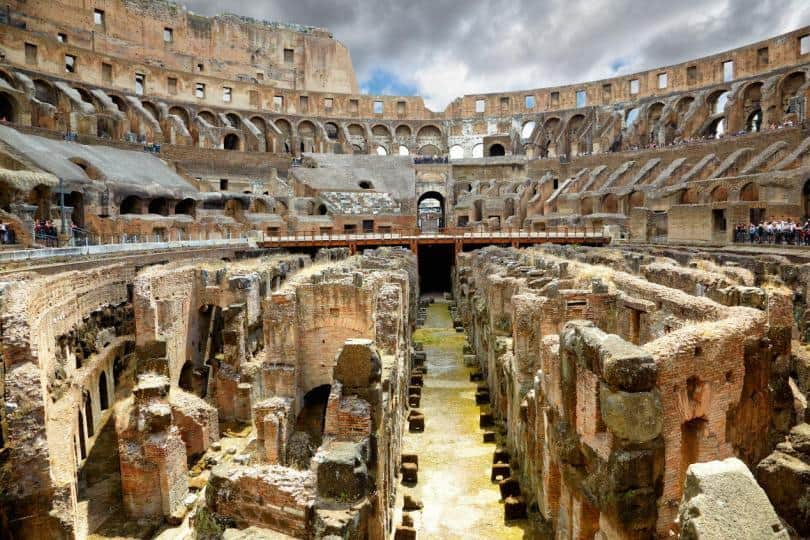 hypogeum at the Colosseum in rome needs a retractable floor