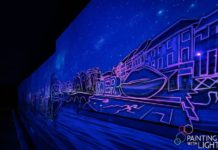 Painting with Light illuminates underpass at Designer Outlet Roermond
